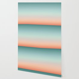 Color gradient background - fading sunset sky colors Wallpaper