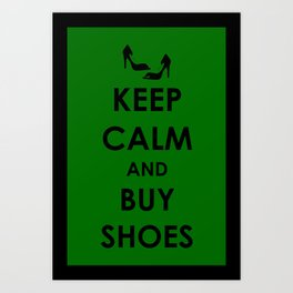 Keep Calm Keep Shopping Art Print