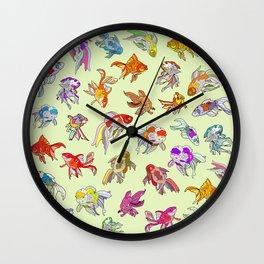 Fish Swimming in Sea Wall Clock