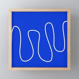 Blue Abstract Wave Framed Mini Art Print