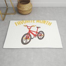 "Biking Shirt For Bikers With Illustration Of A Bike ""Favorite Month National Bike Month"" T-shirt Rug"