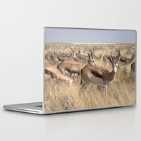 greg guillemin Laptop & iPad Skins featuring Springbok herd - Greg Katz by Artlala for MSF Doctors Without Borders
