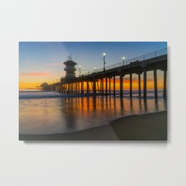 Long Exposure Huntington Sunset Metal Print