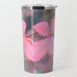 Pink Geranium Travel Mug