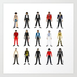 Outfits of King MJ Pop Music Art Print