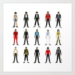 Outfits of King MJ Pop Music Kunstdrucke