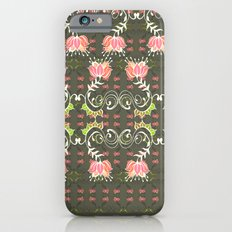 Lotus and some other squiggly lines  iPhone 6s Slim Case