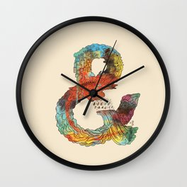 Psychedelic Ampersand Wall Clock