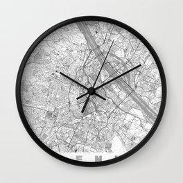 Vienna Map Line Wall Clock