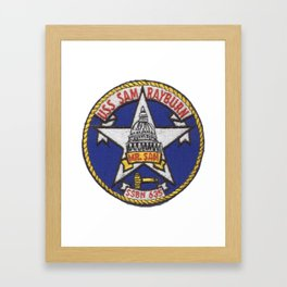 USS SAM RAYBURN (SSBN-635) PATCH Framed Art Print
