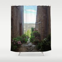 selena Shower Curtains featuring Montona by Selena Gazda