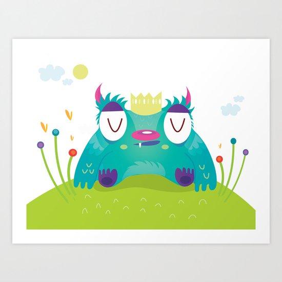 Monster king Art Print