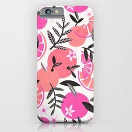 Orange Blooms – Pink & Black iPhone Case