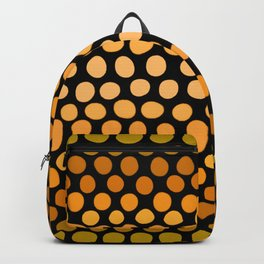 Honey Gold and Amber Ombre Dots Backpack