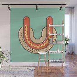 Typography series #U Wall Mural