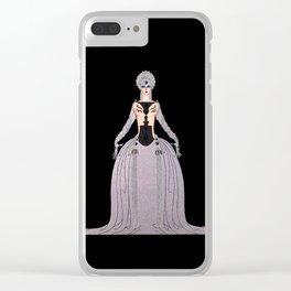 """Art Deco Design """"Kissing"""" by Erté Clear iPhone Case"""