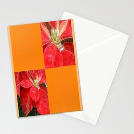 Mottled Red Poinsettia 1 Ephemeral Blank Q8F0 Stationery Cards