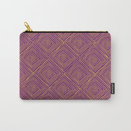 Squiggle Square Pattern Purple Carry-All Pouch