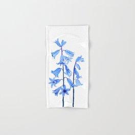 botanical bluebell flowers watercolor Hand & Bath Towel