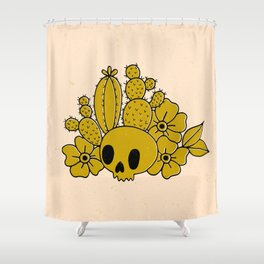 Skull and Cactus Shower Curtain