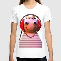 headphones T-shirts featuring Headphones by Aguinaldo Goncalves