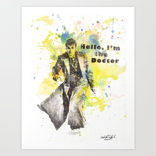 Doctor Who 10th Doctor David Tennant Art Print