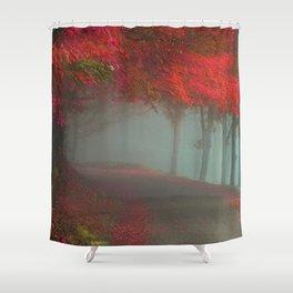 Crimson Path Shower Curtain