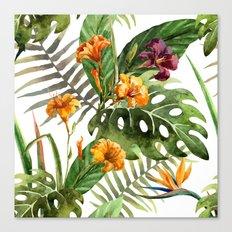 Tropical Floral Pattern 01 Canvas Print