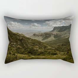 Cloudy Vibrant Mountaintop View in Big Bend - Lost Mine Trail Rectangular Pillow