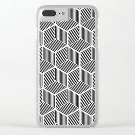 Cube pattern cube seamless repeat Clear iPhone Case