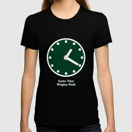 WRIGLEY FIELD SCOREBARD CLOCK IS CHICAGO  GAME TIME game T-shirt