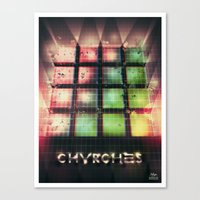 chvrches Canvas Prints featuring Chvrches - 80's Style by Derek Brown