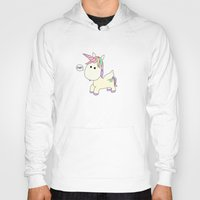 poop Hoodies featuring Unicorn Poop by Stephanie Keyes Design