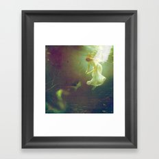 The angel and the mermaid Framed Art Print
