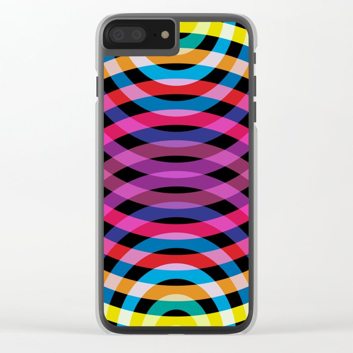 Ripple pattern Clear iPhone Case