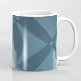 Wings and Sails - Blue and Light Blue Coffee Mug