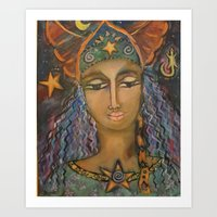 She Comes From Afar Art Print