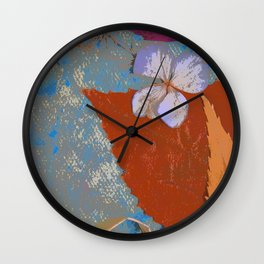 Happy Leaves and Flowers Art Wall Clock
