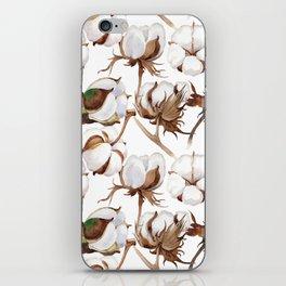 Cotton Flower Pattern 02 iPhone Skin