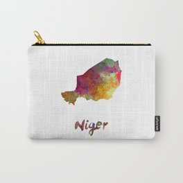 Niger in watercolor Carry-All Pouch