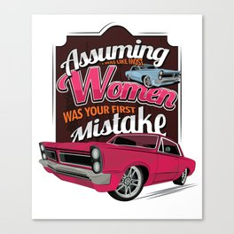 Assuming Street Racing Automotive Auto Race Car Racers Off Road Gift Canvas Print