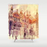 takmaj Shower Curtains featuring Venezia by takmaj