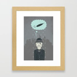 pessimism Framed Art Print