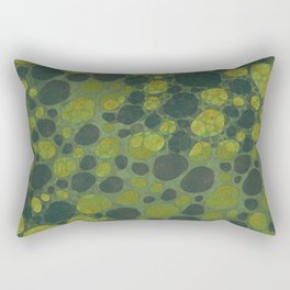 """Art Deco Abstract Crocodile"" Rectangular Pillow"