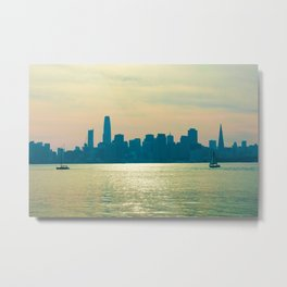 San Francisco Sunlights Metal Print