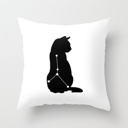 cancer cat Throw Pillow