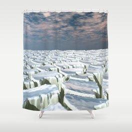 Fragmented Landscape Shower Curtain