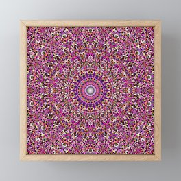 Colorful Girly Lace Garden Mandala Framed Mini Art Print