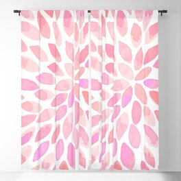 Watercolor brush strokes - pastel pink Blackout Curtain