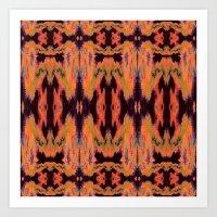 kilim Art Prints featuring Azra Kilim by Nina May Designs